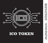 ico token icon flat black   Shutterstock .eps vector #1036241008