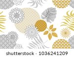 golden and silver floral...