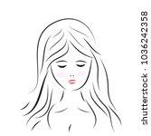 women art line on white...   Shutterstock .eps vector #1036242358