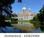 Stock photo the new city hall german neues rathaus or new town hall in hanover germany is a city hall and 103624364