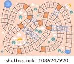 board games  ladders game ... | Shutterstock .eps vector #1036247920
