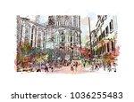 venice city in italy. historic... | Shutterstock .eps vector #1036255483