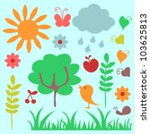 a set of childish nature...   Shutterstock .eps vector #103625813