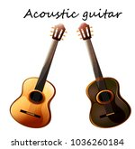 two models of guitars   a... | Shutterstock .eps vector #1036260184