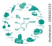 foods rich in vitamin b6.... | Shutterstock .eps vector #1036261213