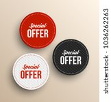 special offer banners. vector... | Shutterstock .eps vector #1036262263