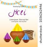 holi indian spring festival of... | Shutterstock .eps vector #1036262446