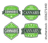 cannabis quality seal stamp...   Shutterstock .eps vector #1036271440