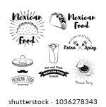 mexican food. mexican kitchen.... | Shutterstock .eps vector #1036278343