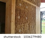 straw house under construction