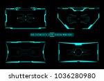 hud virtual futuristic user...