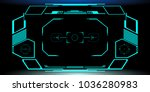 hud futuristic elements... | Shutterstock .eps vector #1036280983