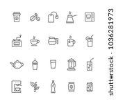 set cafe shop icons grey on... | Shutterstock .eps vector #1036281973
