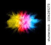 multicolored powder explosion... | Shutterstock . vector #1036285273