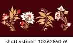 stock vector set of  flolar... | Shutterstock .eps vector #1036286059
