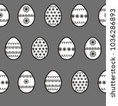 easter eggs in a graphic style   Shutterstock .eps vector #1036286893