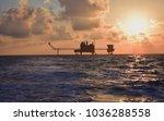 offshore construction platform... | Shutterstock . vector #1036288558
