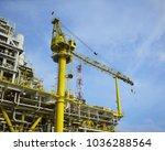 offshore construction platform... | Shutterstock . vector #1036288564