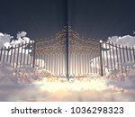 3d illustration of a gate in... | Shutterstock . vector #1036298323