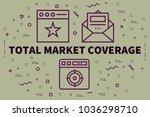 conceptual business... | Shutterstock . vector #1036298710