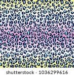 funny trendy vector jaguar... | Shutterstock .eps vector #1036299616