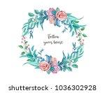 vector realistic rose flower... | Shutterstock .eps vector #1036302928