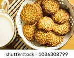 cookies and a glass of milk | Shutterstock . vector #1036308799