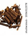 close up of ayurvedic herb... | Shutterstock . vector #1036312378
