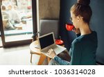 business woman working at... | Shutterstock . vector #1036314028