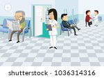 waiting room in the hospital.... | Shutterstock .eps vector #1036314316