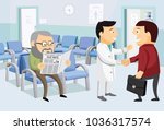 interior at the work office....   Shutterstock .eps vector #1036317574