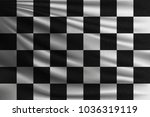 black and white racing flag.... | Shutterstock .eps vector #1036319119