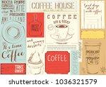coffee menu placemat design.... | Shutterstock .eps vector #1036321579