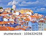 lisbon  alfama district ... | Shutterstock . vector #1036324258