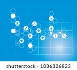 abstract molecules medical... | Shutterstock .eps vector #1036326823
