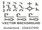 constructor roads in isometric... | Shutterstock .eps vector #1036327090