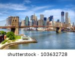 brooklyn bridge spans the east...   Shutterstock . vector #103632728