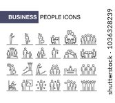 business people icons set 24 ui ...