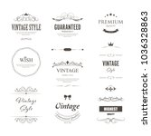 set of premium label for design ... | Shutterstock .eps vector #1036328863