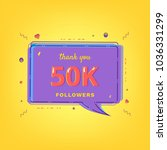 50k followers thank you message ... | Shutterstock .eps vector #1036331299