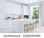 3d rendering of modern kitchen... | Shutterstock . vector #1036331404