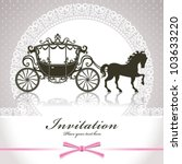 vintage luxury carriage | Shutterstock .eps vector #103633220