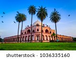 humayun's tomb of mughal... | Shutterstock . vector #1036335160
