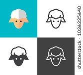 sheep icons 2018   Shutterstock .eps vector #1036335640