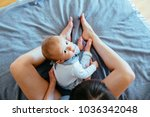 top view of young... | Shutterstock . vector #1036342048