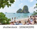 krabi thailand   january 20 ... | Shutterstock . vector #1036342090