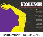 young abused woman trying to... | Shutterstock .eps vector #1036342648