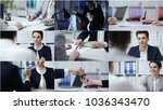 business people in the office ...   Shutterstock . vector #1036343470