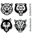 animal mascot vector logo set | Shutterstock .eps vector #103634570