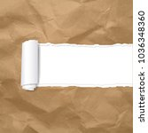 torn paper edge transparent...   Shutterstock .eps vector #1036348360